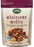 Second Nature Wholesome Medley Trail Mix 30 Ounce Resealable Pouch - Assortment of Almonds, Cashews, Peanuts, Dried Cherries, Cranberries and Dark Chocolate - Non GMO Project Verified