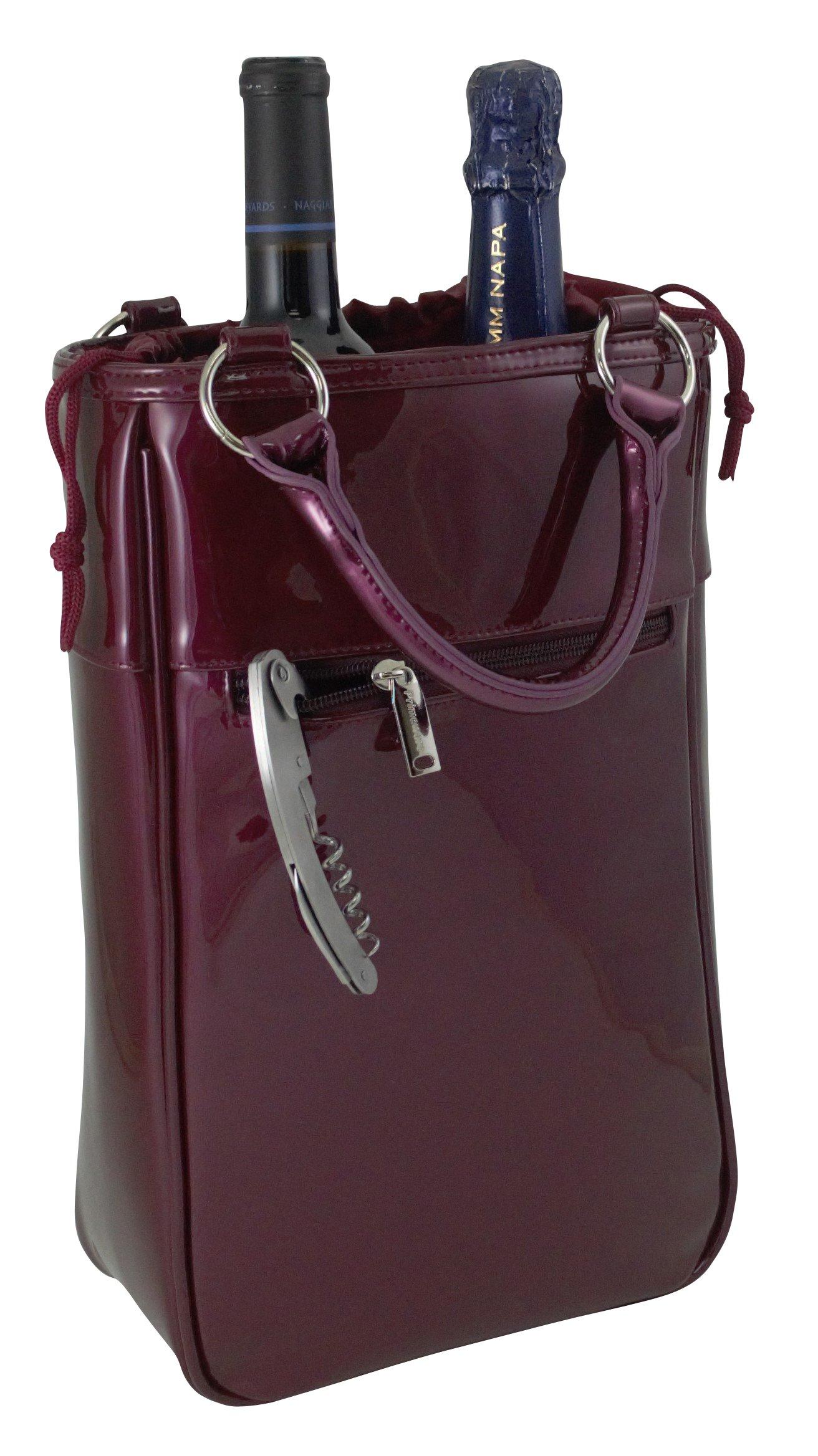 Primeware Harmony Insulated Two Bottle Wine Tote (Purple Candy)