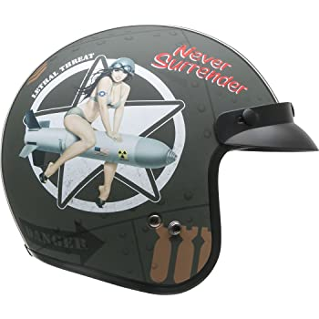 Vega Vintage Motorcycle Helmet for Men & Women, Classic Retro Open Face Design Lightweight DOT Certified for Motorbike Cruiser Moped Scooter ATV