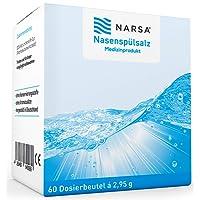 Nasenspülsalz 60 Stk NARSA® Nasensalz für die Nasendusche zur Reinigung der Nase bei Schnupfen Erkältung oder Pollen Allergie Nasenspülung für die Nasenspülkanne