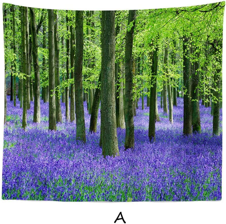 Amazon Com Charmsamx Purple Lavender Tapestry Watercolor Flower