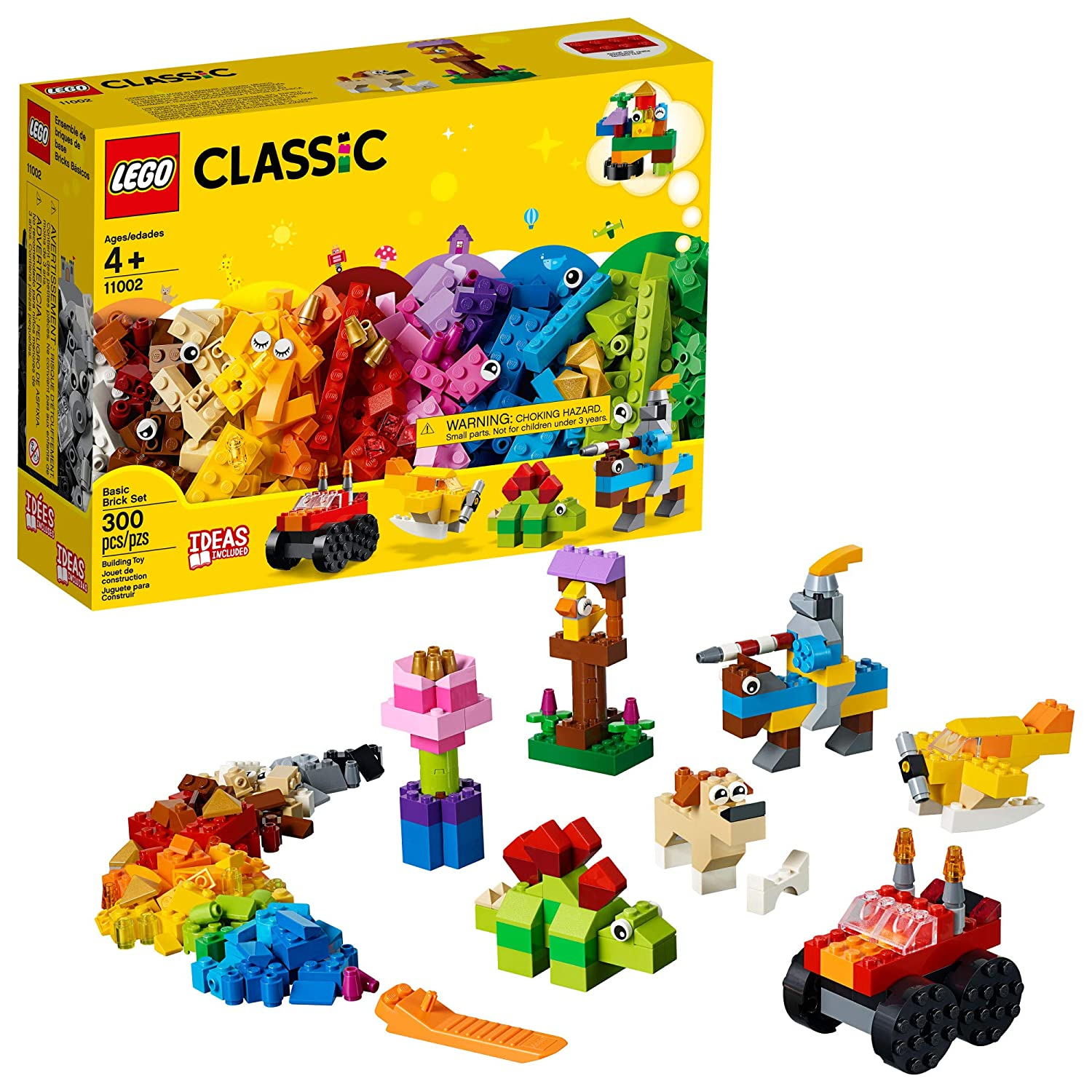 LEGO Classic Basic Brick Set 11002 Building Kit (300 Pieces)