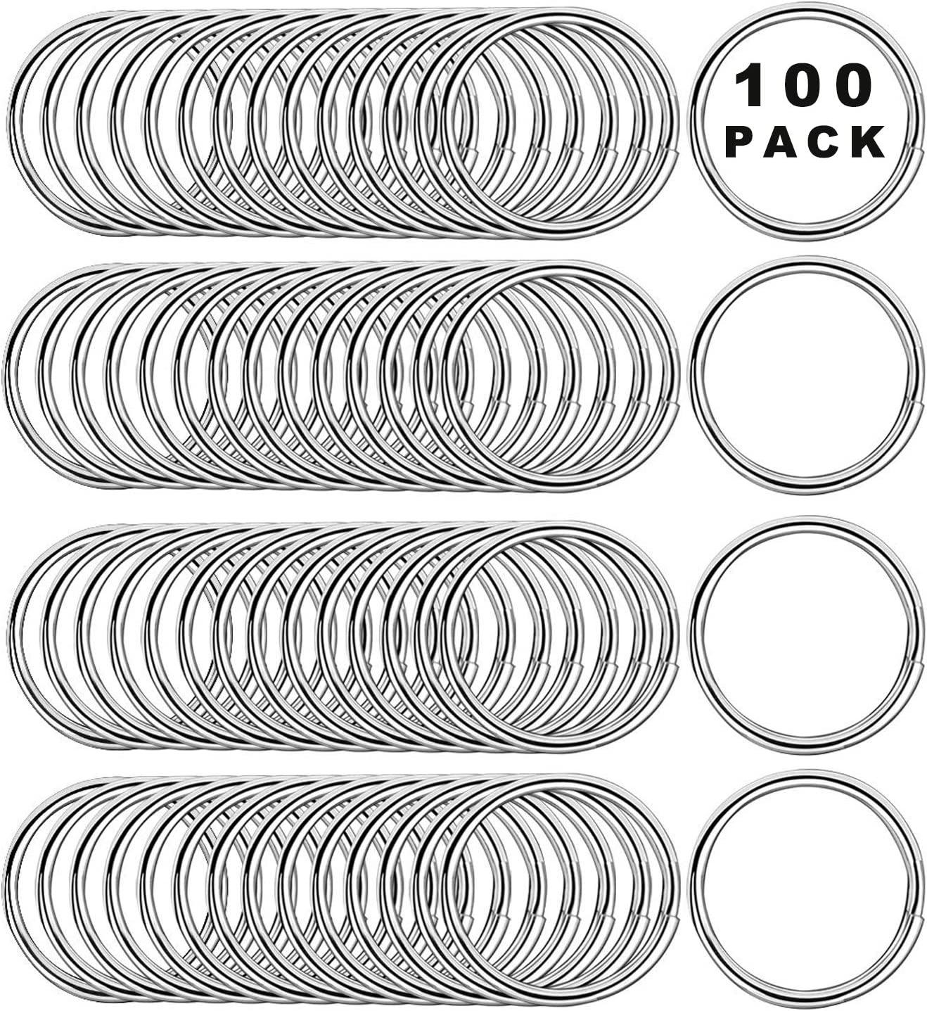 Anillo de Llavero Redondo 25mm,anillas de llavero de acero inoxidable,anillos partidos de metal,anillas llaveros para Organización de Llaves