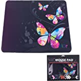 ICOLOR Nice Butterfly Anti-Slip Mouse Pad Mice Pad Mat Mousepad For Optical Laser Mouse MP-017