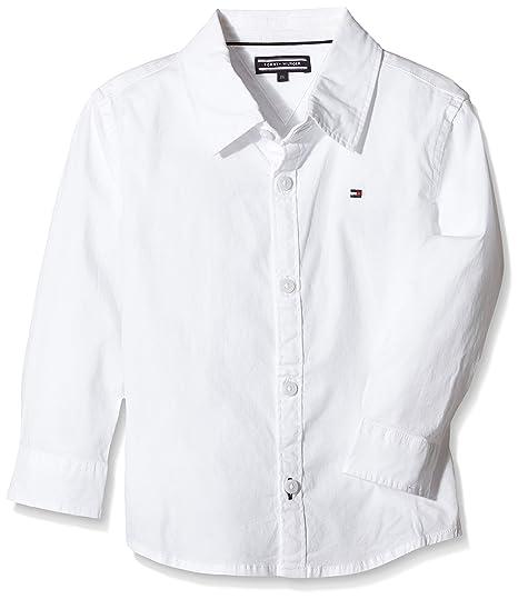Tommy Hilfiger Solid Stretch Poplin Shirt, Camisa para Niñas: Amazon.es: Ropa y accesorios