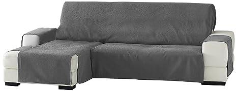 Eysa Zoco Chaise Longue- Funda de sofá, 240 cm. izquierda vista frontal - col. 26-gris