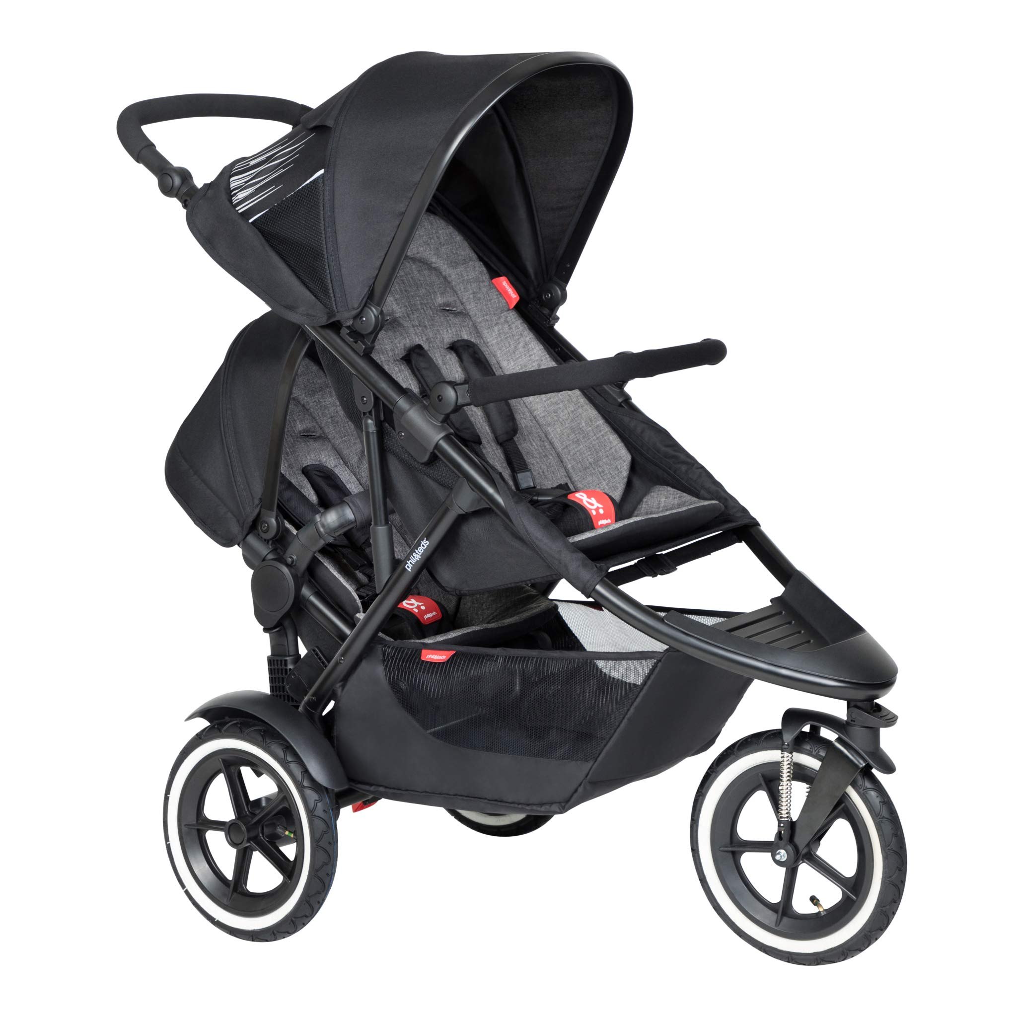 Phil & Teds 2019 Sport Buggy with Doubles Kit (Charcoal) by phil&teds