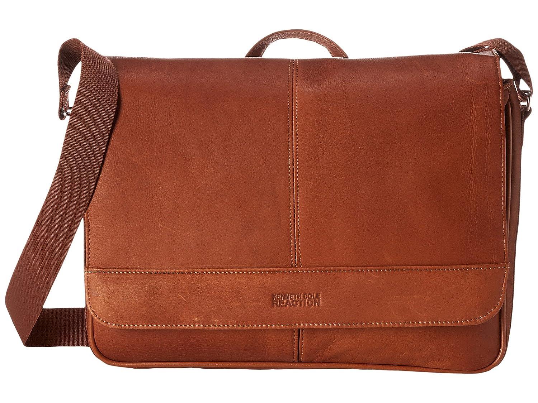 [ケネスコールリアクション] Kenneth Cole Reaction メンズ Risky Business Colombian Leather Flapover Messenger Bag ショルダーバッグ [並行輸入品]  Cognac B01MXUQ6UD