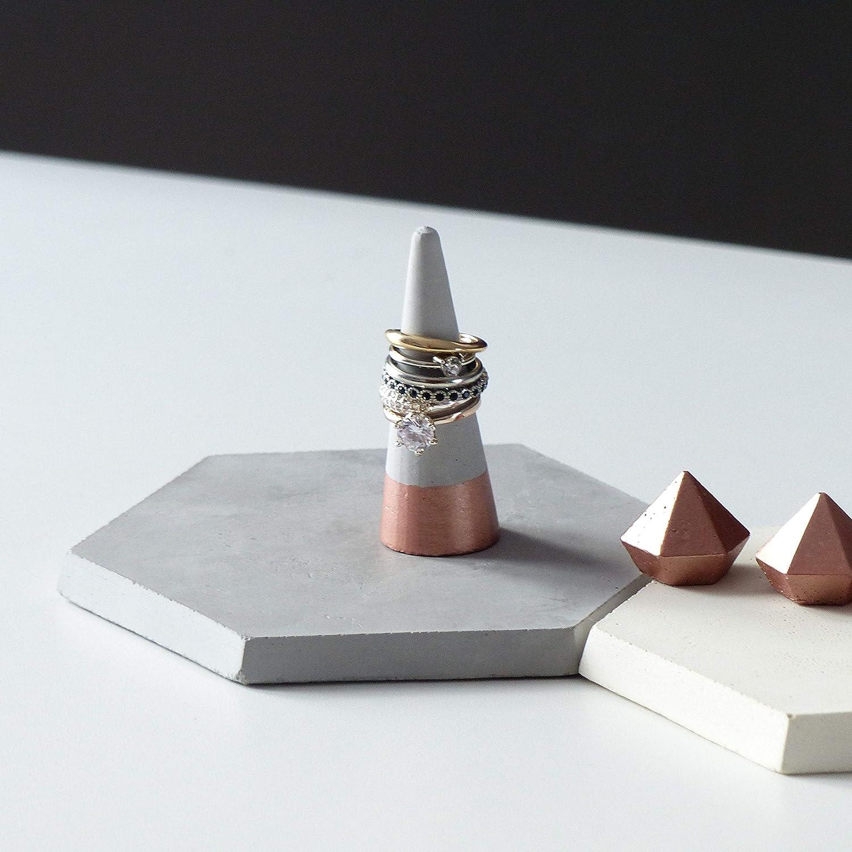 Rose Cono de Soporte Del Anillo de Oro Atelier Ideco Joyas de Hormig/ón Del Soporte de Exhibici/ón
