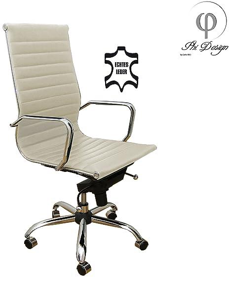 Bürostuhl Drehstuhl Chefsessel ECHT LEDER Sessel Stuhl NEU 4 Farben
