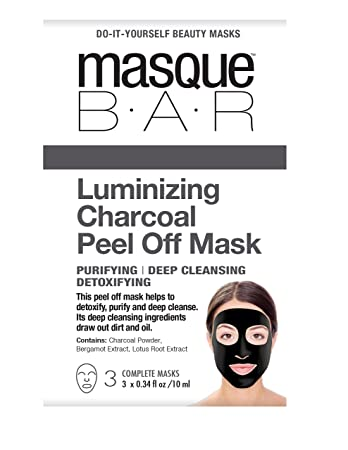 Amazon masque bar luminizing charcoal peel off mask charcoal masque bar luminizing charcoal peel off mask charcoal face mask 3 set solutioingenieria Images