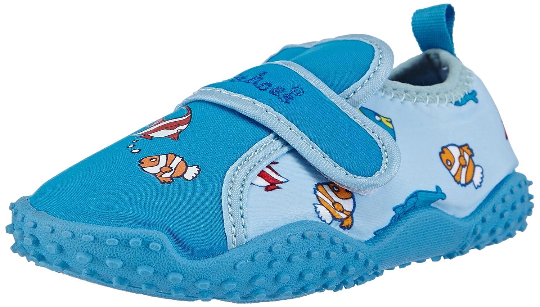 Playshoes Aquaschuhe Badeschuhe Fische mit UV-Schutz 174761 Jungen Aqua Schuhe