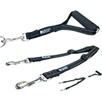 Leashboss Duo - Adjustable Double Dog Leash for Large Dogs - Reflective No Tangle Leash for Walking Two Dogs at Once