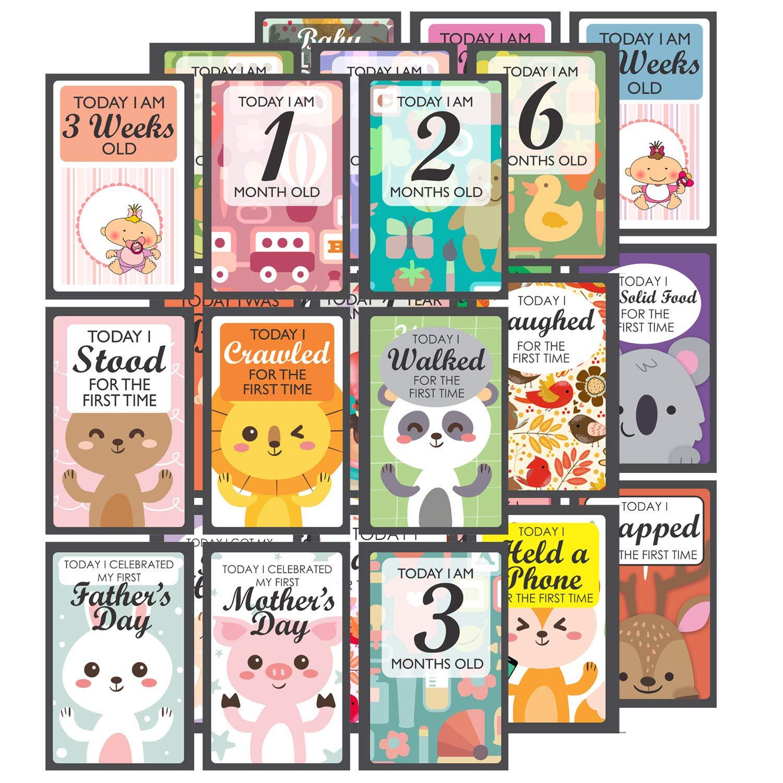 Multicolor Baby Milestone Cards