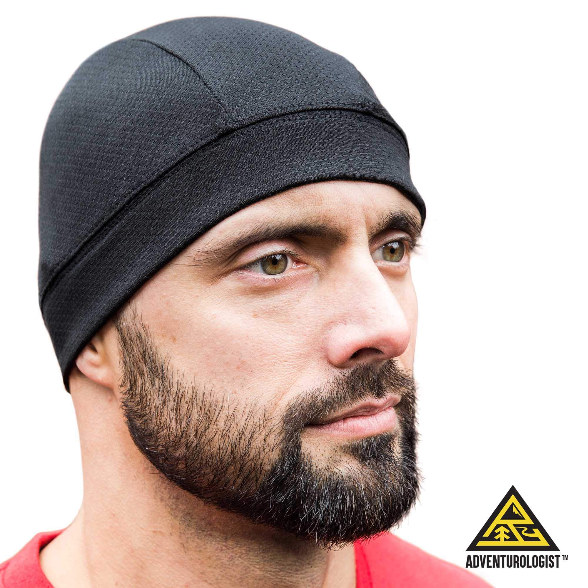 SKULL CAP [BLACK 2 PACK] , Best for Men and Women as a Helmet Liner, Thermal Cycling Beanie, Running Hat, Do-Rags and Workout Caps, Perfect under Motorcycle Helmets, Covers Ears and Wicks Moisture