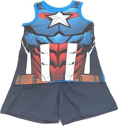 Pijama Conjunto 2 Piezas Camiseta Tirantes - pantalón Corto Avengers para niños 100% algodón: Amazon.es: Ropa y accesorios