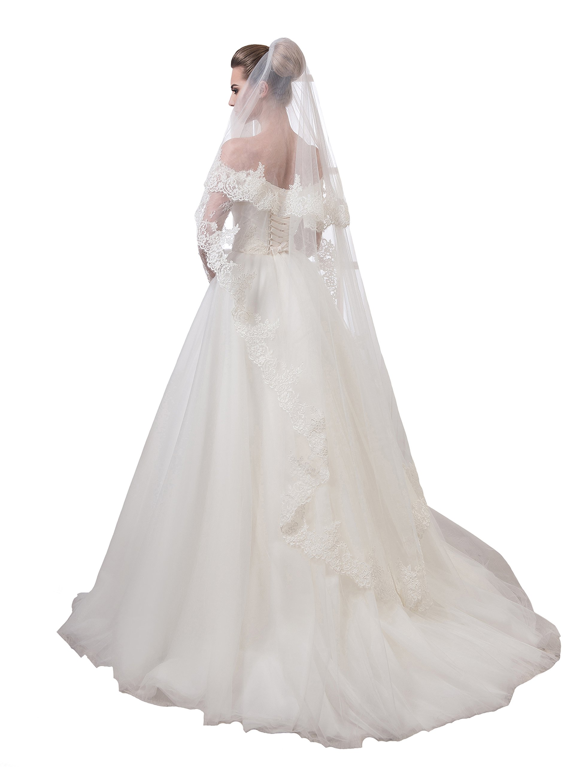 """Bridal Veil Victoria from NYC Bride collection (short 30"""", white)"""