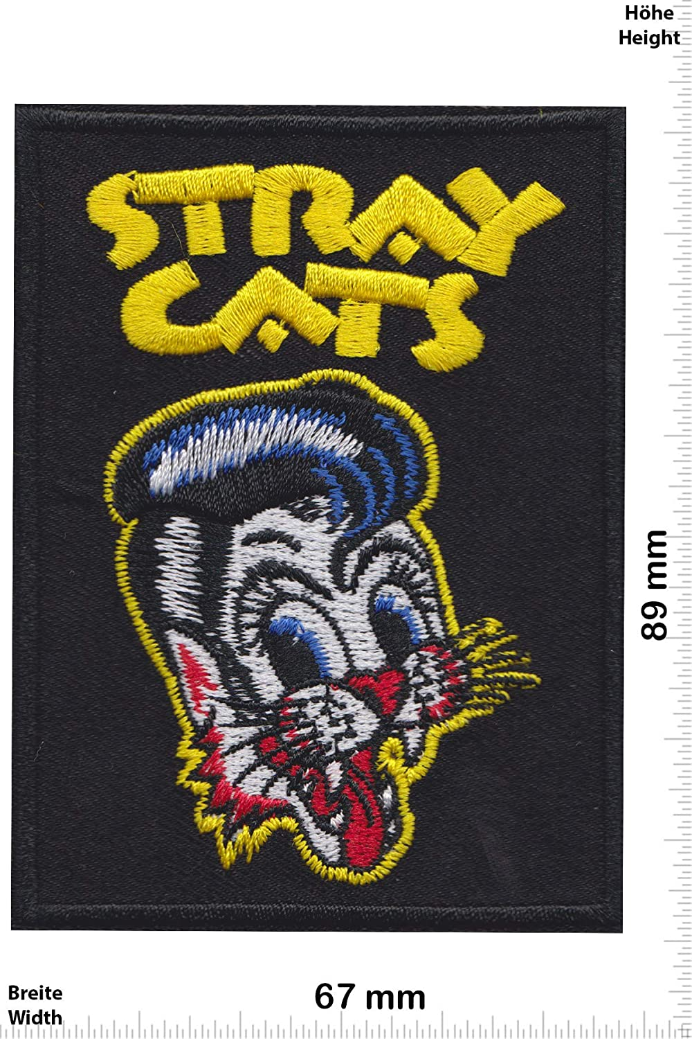Patch - Stray Cats - Rockabilly Rebels - Black -Oldschool -Stray Cats - Iron on Applique Embroidery Écusson brodé Costume Cadeau- Give