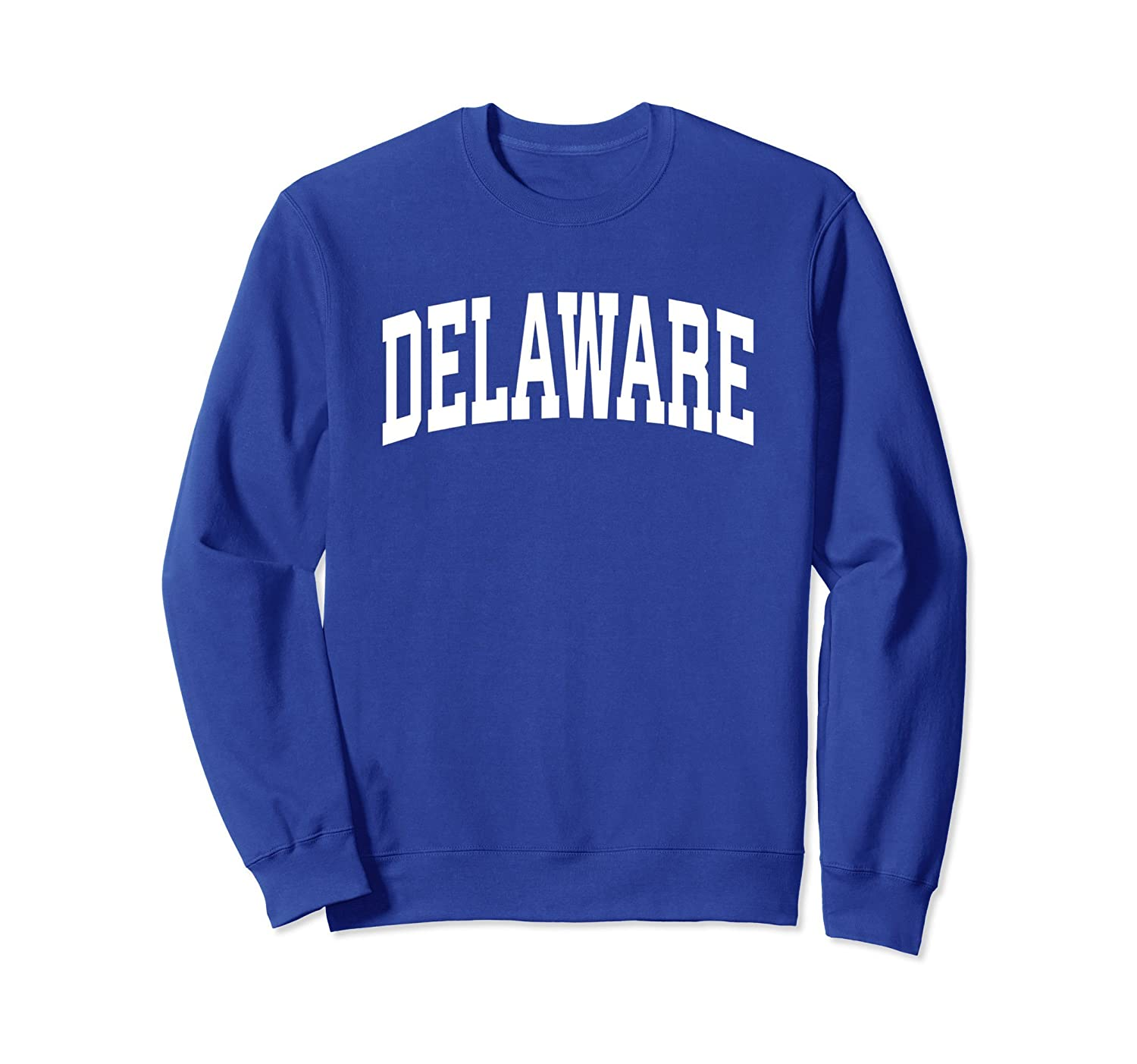 Delaware Crewneck Sweatshirt Sports College Style State Gift-alottee gift
