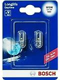 Bosch 1987301052 Car Light Bulb W5W Long-life Wedge Bulb / Miniwatt Bulb