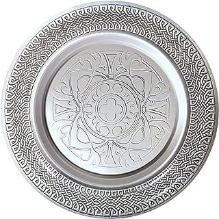 Goth Feast Silver Medieval Dinner Plates (8)  sc 1 st  Amazon.com & Amazon.com | Mikasa Gothic Platinum Dinner Plate 11\