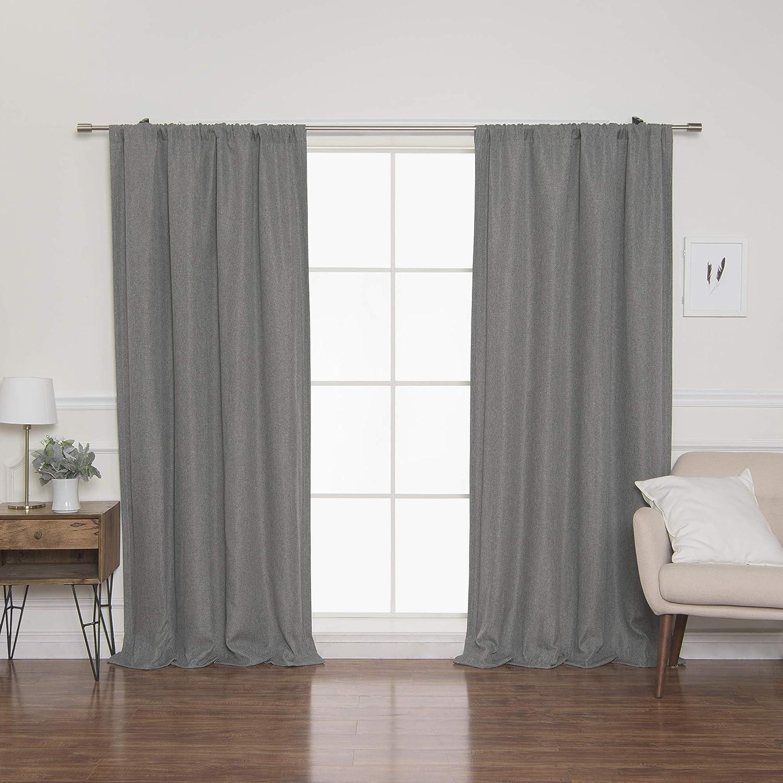 Amazon Com Best Home Fashion Faux Linen Curtains Rod Pocket 52 W X 84 L Grey Single Panel Kitchen Dining