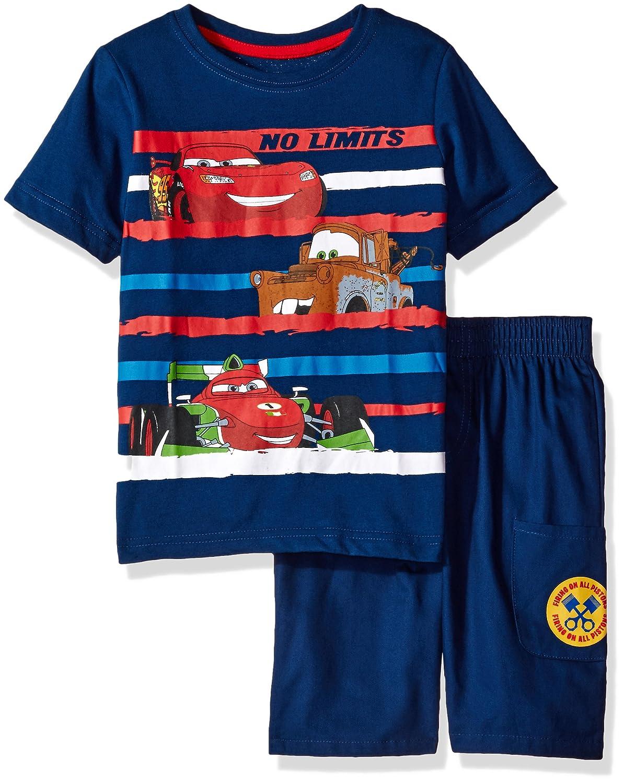 Disney Boys' 2 Piece Cars T Shirt and Twill Short Set
