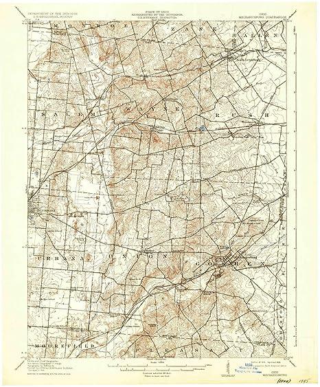 Mechanicsburg Ohio Map.Amazon Com Yellowmaps Mechanicsburg Oh Topo Map 1 62500 Scale 15