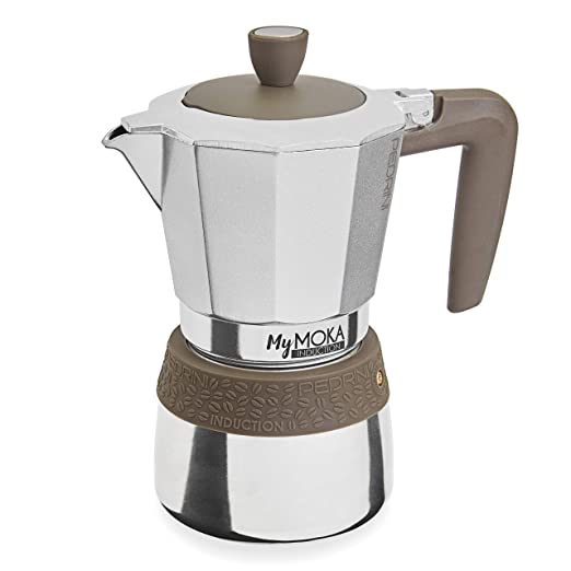 Pedrini Cafetera mymoka Induction, 6 tazas: Amazon.es: Hogar