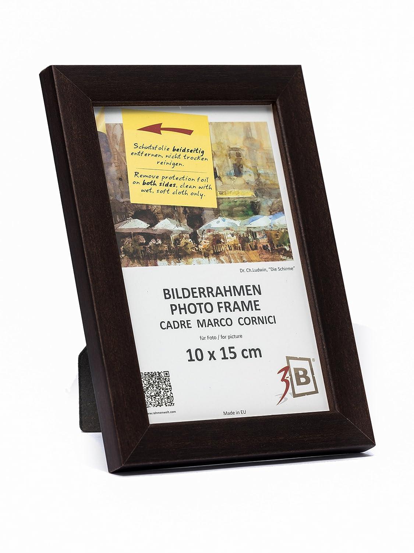 Amazon.de: 3-B Set 3 Stk. - Bilderrahmen Oslo 10x15 cm - dunkel ...