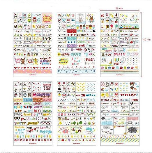 Pack de Sticker de Vinilo PVC Pegatinas para Cuaderno Notebook ...