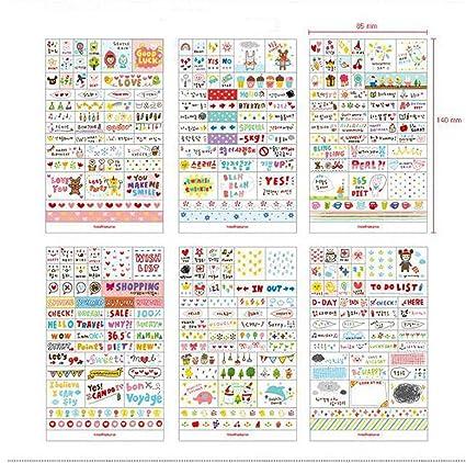 Pack de Sticker de Vinilo PVC Pegatinas para Cuaderno Notebook Calendario 4368b