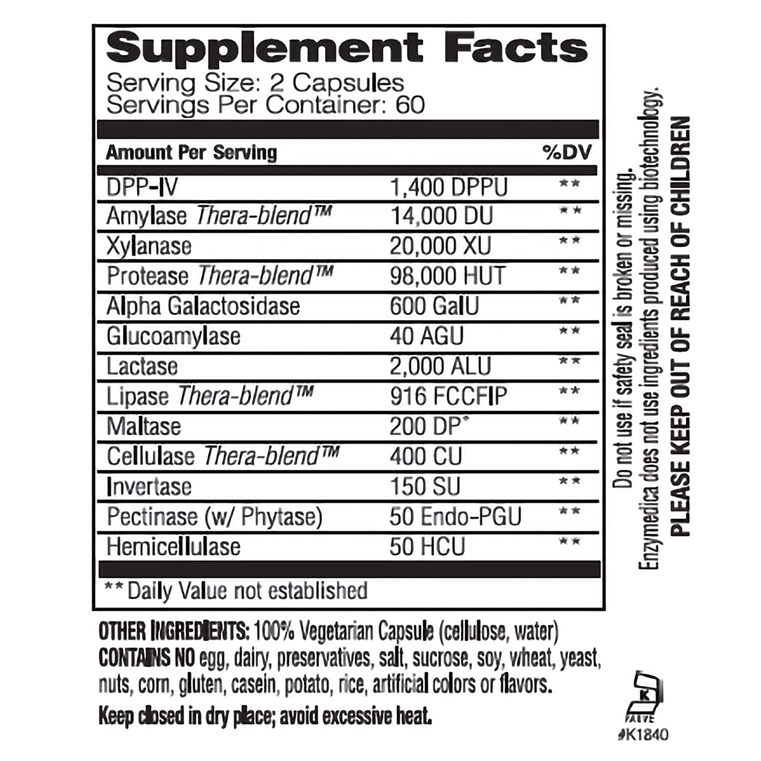 Enzymedica - Digest Spectrum, Multiple Food Intolerance Formula, 120 Capsules by Enzymedica
