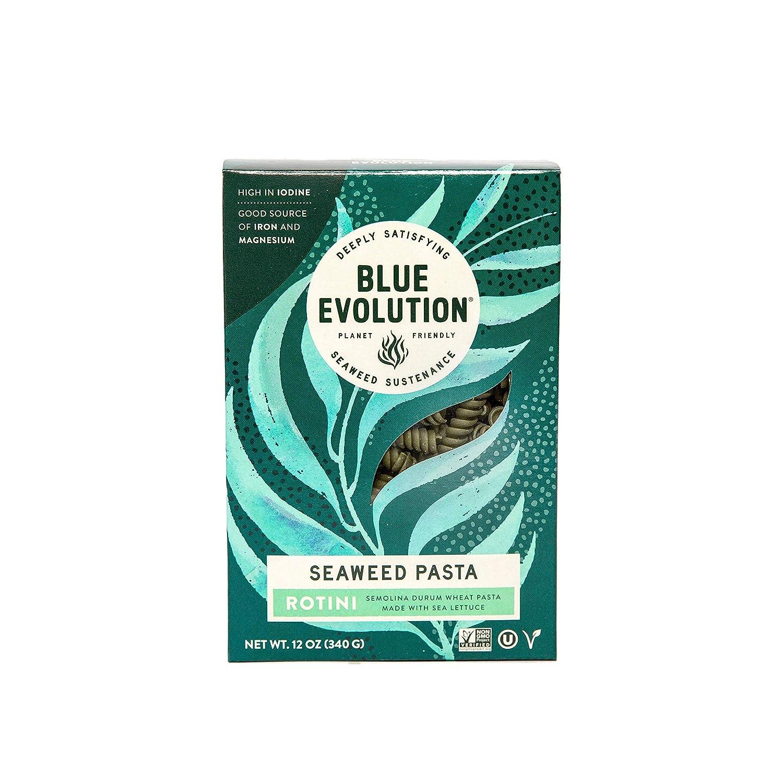 Blue Evolution Seaweed Pasta, Nourishing Superfood Rotini, Whole Food Vegan Pasta, Rich in Antioxidants 12 OZ (3 Pack)