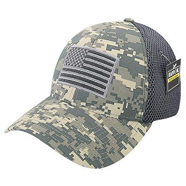 2b8b6e01fbeabb USA US American Flag Tactical Operator Mesh Flex Baseball Fit Hat Cap - ACU  Camo at Amazon Men's Clothing store: