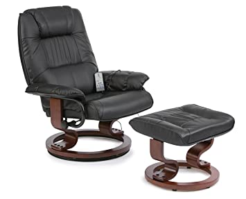 Drive DeVilbiss Healthcare Restwell Napoli Massage Chair With Foot Stool In  Black