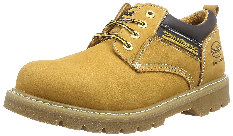 TALLA 42 EU. Dockers 23DA005 - Zapatos de cordones de cuero para hombre