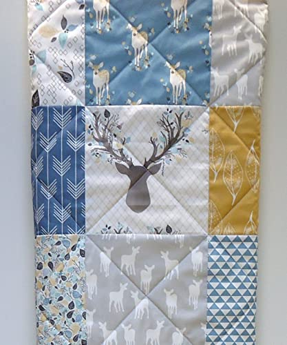 Woodland Baby Boy Quilt Rustic Crib Bedding Buck And Antlers