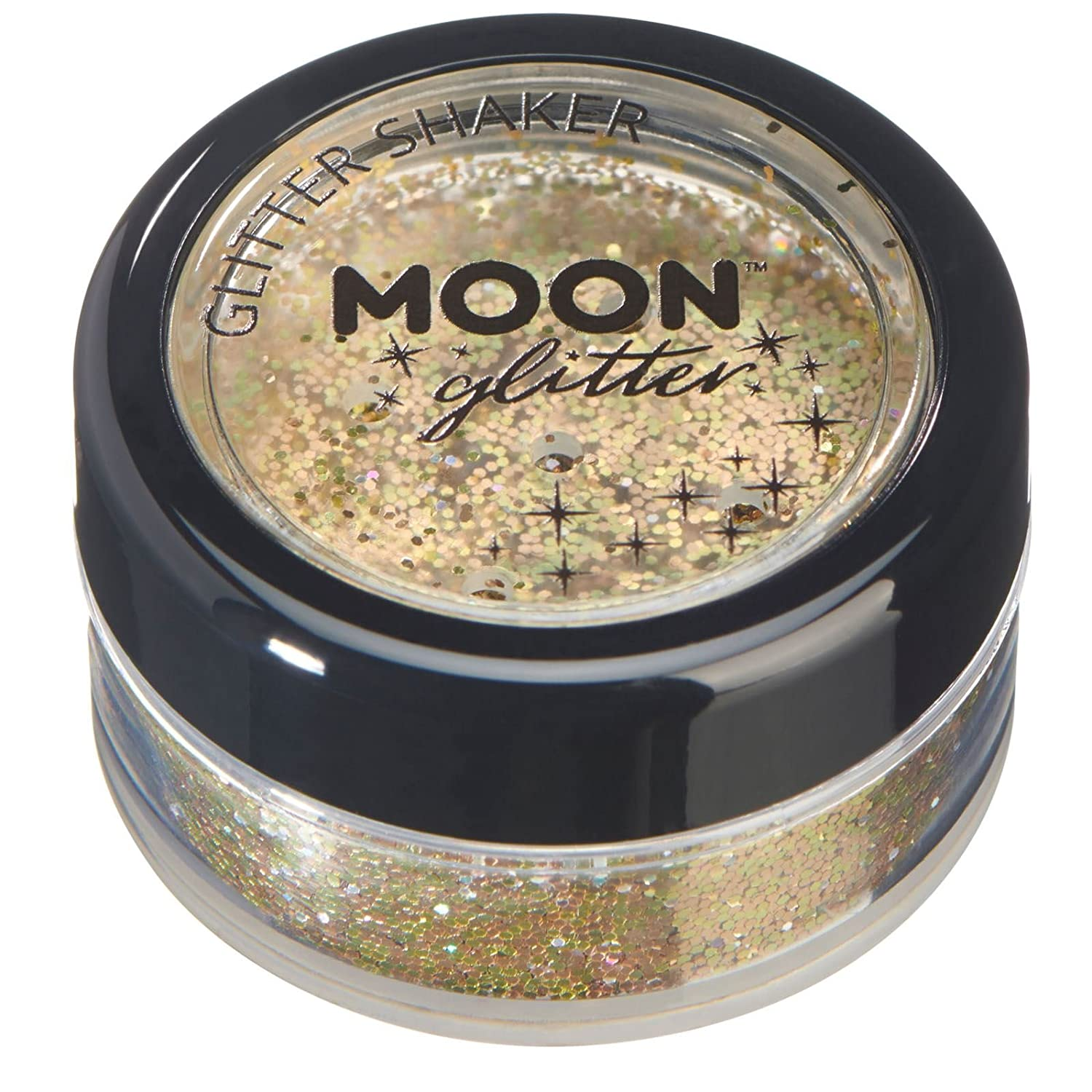 Holographic Glitter Shakers by Moon Glitter – 100% Cosmetic Glitter for Face, Body, Nails, Hair and Lips - 0.17oz - Green