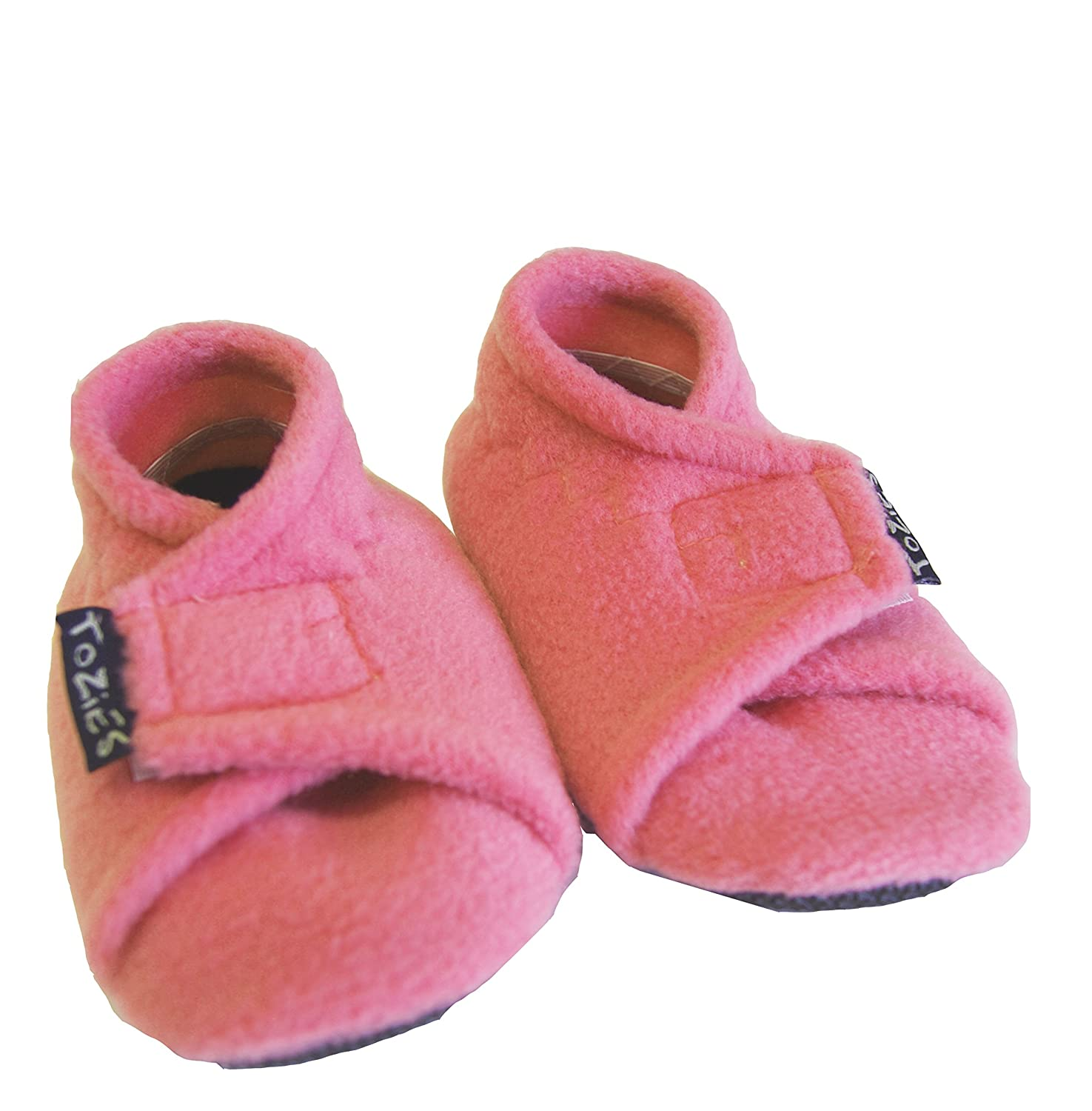 TOZIES Baby Toddler Boys Girls Soft and Cosy Slippers Play Shoes Non Slip Soles Stay On