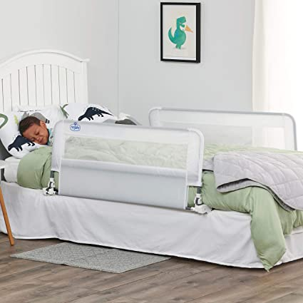Amazon.com : Regalo HideAway Double Sided Bed Rail Guard, with Reinforced Anchor Safety System : Childrens Bed Safety Rails : Baby