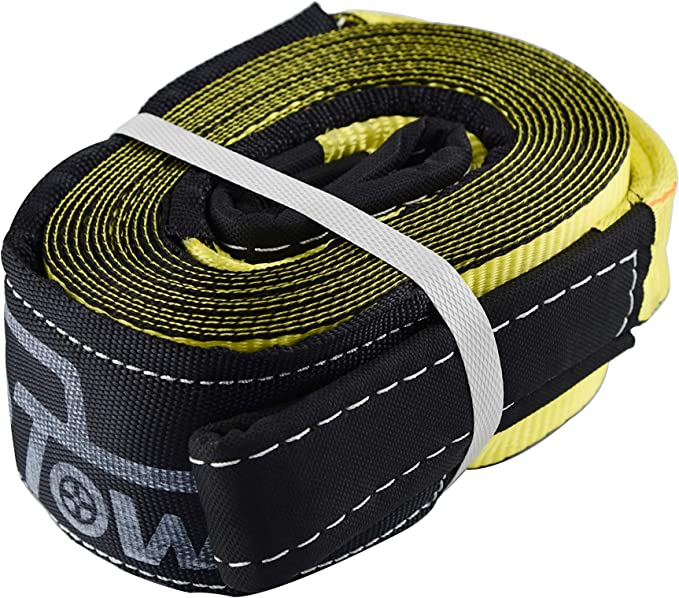 100/% Polyester Sling TOPTOW 66441 Winch Extension Strap 3 inch 20 feet with Reinforced Proctive Eyes
