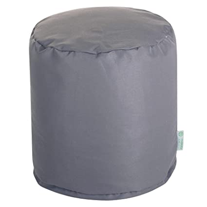 Majestic Home Goods Gray Solid Indoor/Outdoor Bean Bag Ottoman Pouf  16u0026quot; L X