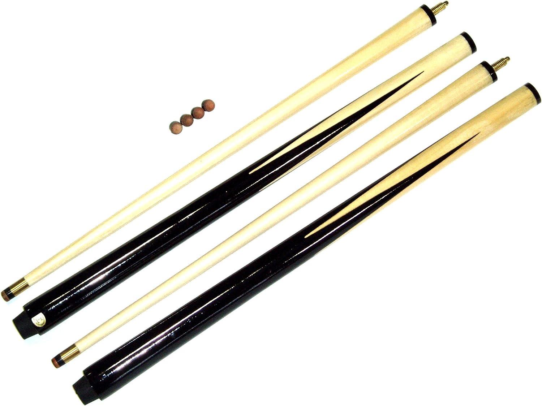 SGL - Juego de tacos de billar (2 tacos de 91,4 cm, se incluyen 4 punteras): Amazon.es: Deportes y aire libre