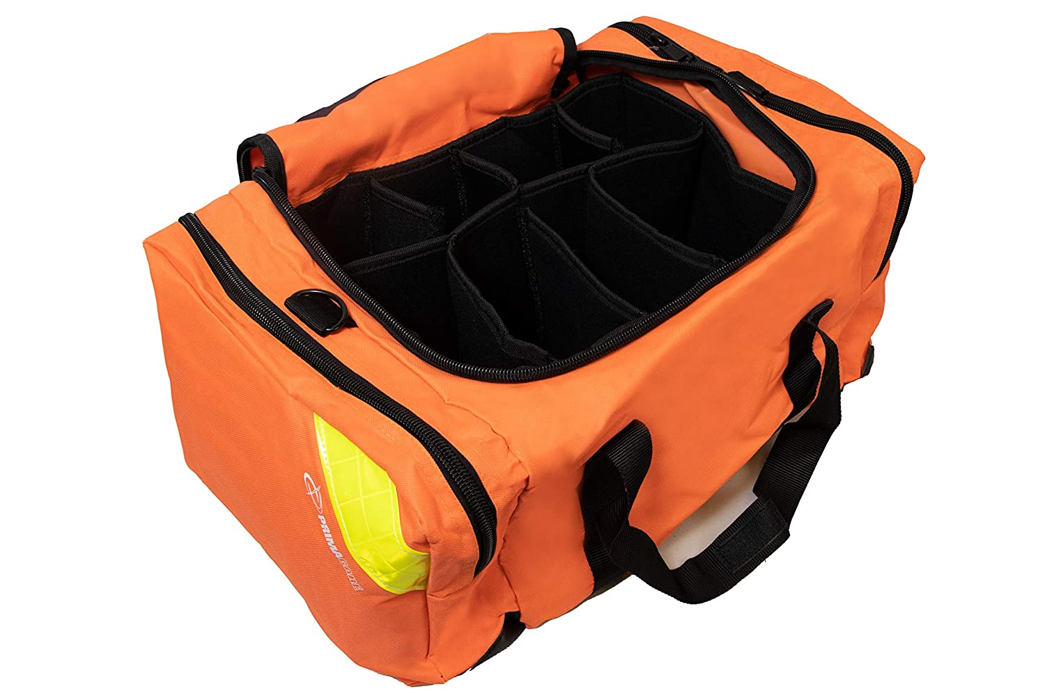 Primacare KB-4135-O First Responder Bag for Trauma, Professional Compartment Kit Carrier for Emergency Medical Supplies, Orange, 21x15x5 inches: First Aid Kits: Health & Personal Care
