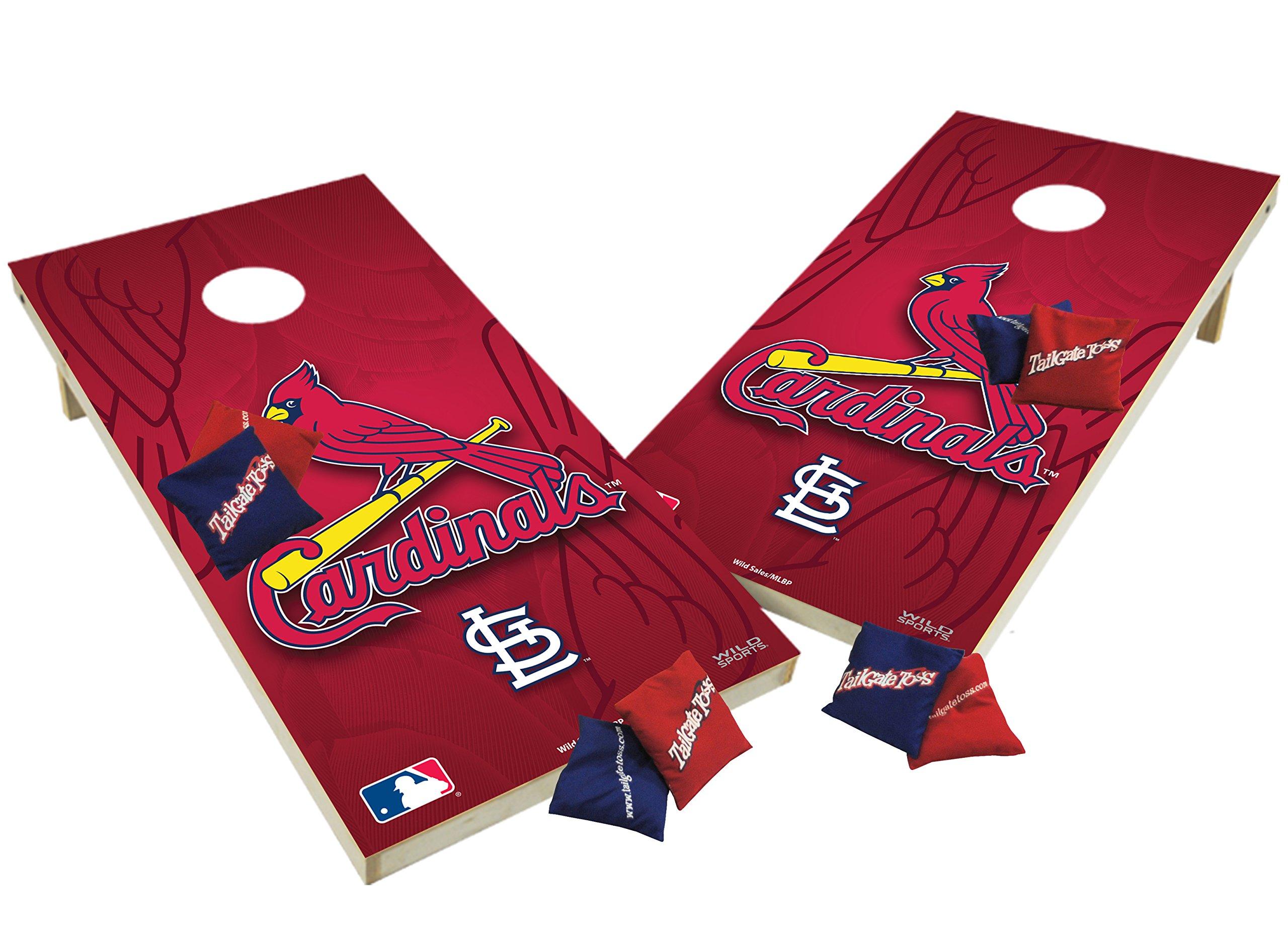 Wild Sports Wooden Cornhole Set - St Louis Cardinals