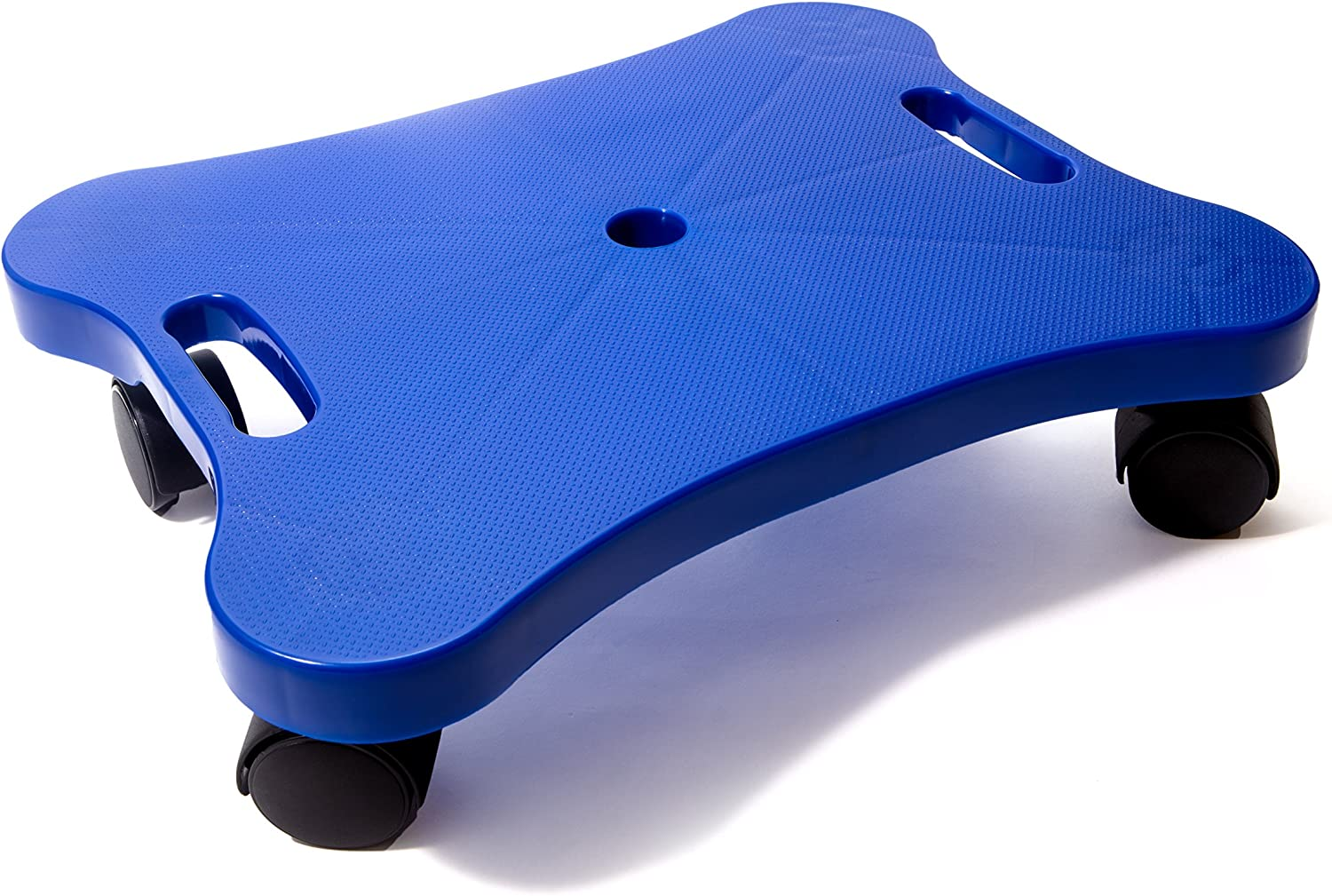 Educational Manual Plastic Scooter Board with Safety Handles 16 x 12 inches Perfect for Kids, Teens, Adults PE, Gym Class, Daycare, Preschool Development, Games Blue