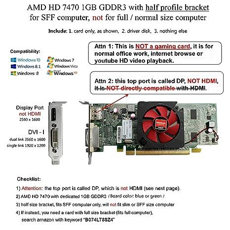 Amazon.com: AMD radeon HD 7470 - Tarjeta de vídeo de bajo ...