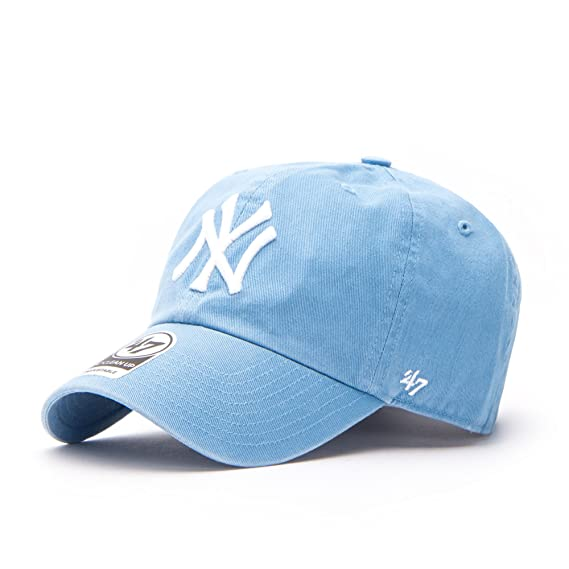 6b1d7c21e55 47 Brand Cap - Mlb New York Yankees Clean Up Curved V Relax Fit blue size   Adjustable  Amazon.co.uk  Clothing