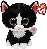 Ty 7136924 Beanie Boos - Gato de peluche (21,5 cm), color blanco y negro [importado de Alemania]